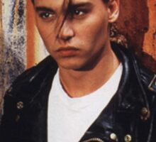 Young Johnny Depp Sticker