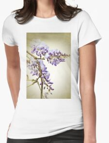 Wisteria textured Womens Fitted T-Shirt