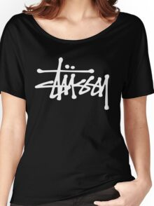 great stussy logo t shirt Women's Relaxed Fit T-Shirt