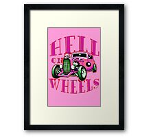 Hell on Wheels - Hot Pink Framed Print