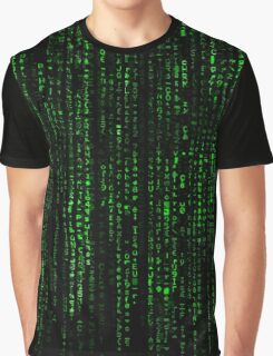 Matrix Pattern Graphic T-Shirt