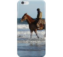 Riding On West Sands iPhone Case/Skin