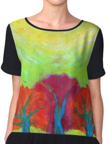 The Sun Three Chiffon Top