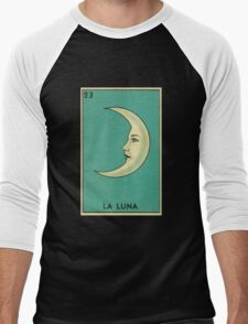 Tarot Card - La Luna - loteria - The moon Men's Baseball ¾ T-Shirt