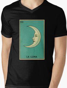Tarot Card - La Luna - loteria - The moon Mens V-Neck T-Shirt