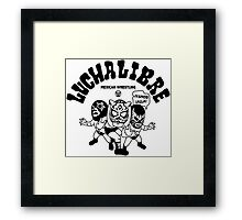 mexican wrestling lucha libre11 Framed Print