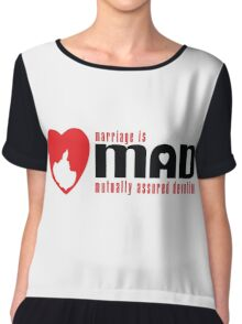MAD MARRIAGE - Red Chiffon Top