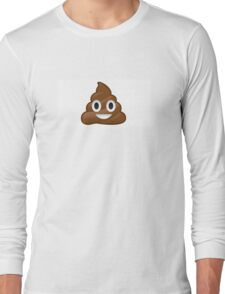 Funny poop emoij Long Sleeve T-Shirt