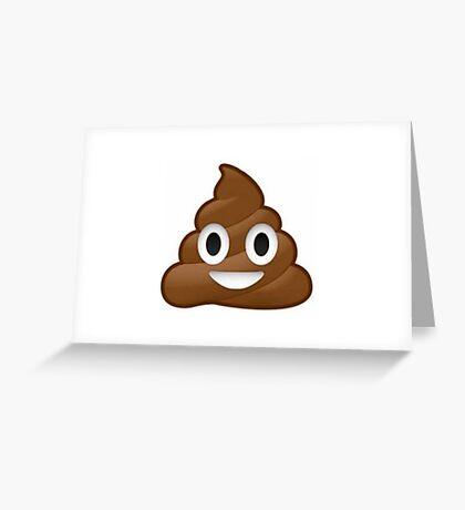 Funny poop emoij Greeting Card