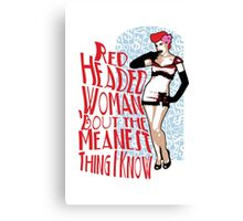 Red Headed Woman Canvas Print