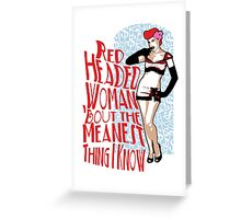 Red Headed Woman Greeting Card
