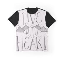 Live With Heart Graphic T-Shirt