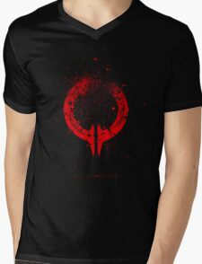 Broken Circle - Red Mens V-Neck T-Shirt
