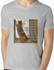 Let me out, lemeout, meout, meow Mens V-Neck T-Shirt