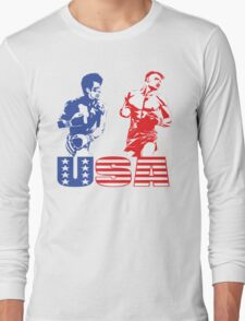 Rocky vs Drago - USA Patriotic Design - Rocky IV - Greatest Boxing Movie of All Time - I Must Break You Long Sleeve T-Shirt