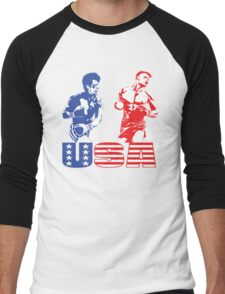 Rocky vs Drago - USA Patriotic Design - Rocky IV - Greatest Boxing Movie of All Time - I Must Break You Men's Baseball ¾ T-Shirt