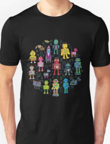 Robots in Space - black Unisex T-Shirt