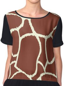 Giraffe seamless pattern texture Chiffon Top