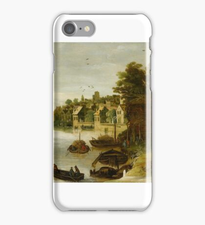 Philippe de Momper (Antwerp ), Landscape by a Riverside Town, said to be Treviso - iPhone Case/Skin