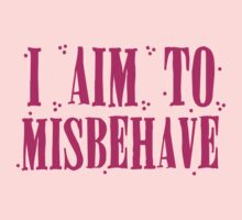 I aim to misbehave in pink One Piece - Short Sleeve