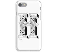 H - Mandala N°1 inside Alphabet N°1 iPhone Case/Skin