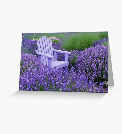 Come and sit among the Lavender Greeting Card