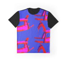 Rocking Horse in Blue Graphic T-Shirt