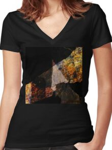 FRACTURE XXXVI Women's Fitted V-Neck T-Shirt