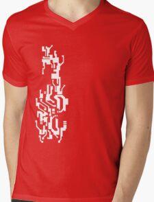 Mirror's Edge Faith digital tattoo pattern, white design Mens V-Neck T-Shirt
