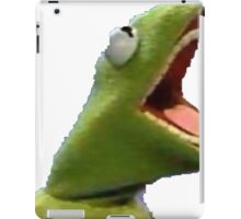 Kermit the frog screaming from hell iPad Case/Skin