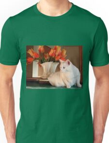 Snowball and the Tulips Unisex T-Shirt