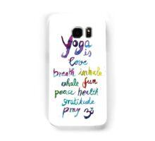 Yoga is love...&... Samsung Galaxy Case/Skin