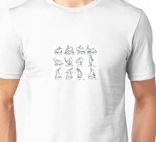 Yoga instructing bunnies Unisex T-Shirt
