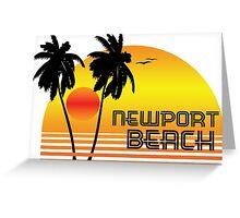 NEWPORT BEACH CALIFORNIA SUNSET Greeting Card