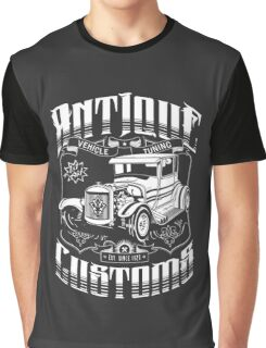 Hot Rod - Antique Customs (white) Graphic T-Shirt