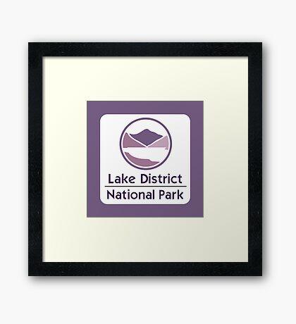 Lake District National Park Sign, England, UK Framed Print