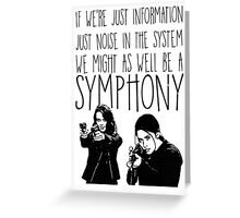 Root and Shaw - Symphony - Person of interest Greeting Card
