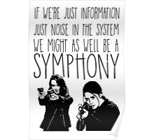Root and Shaw - Symphony - Person of interest Poster