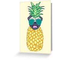 pineapple pug Greeting Card