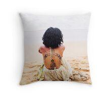 Vibe Beach Throw Pillow