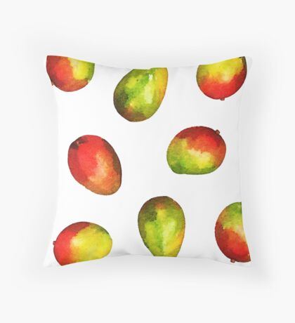 Mango Pattern Throw Pillow