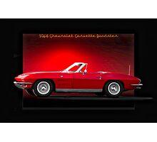 1964 Chevrolet Corvette C2 Roadster Photographic Print