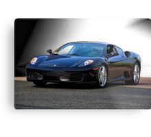Ferrari F430 'Basic Black' Metal Print
