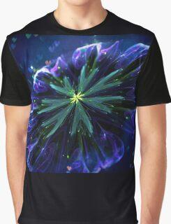 Blue silky flower Graphic T-Shirt