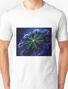 Blue silky flower Unisex T-Shirt