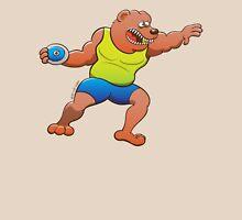 Terrific bear performing a discus throw Classic T-Shirt