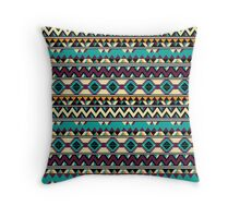 Tribal Pattern - Multi-color Throw Pillow