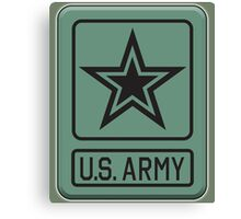 ARMY, United States, America, American, Shoulder Sleeve, Insignia, Headquarters,  Canvas Print