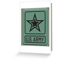 ARMY, United States, America, American, US, USA, Shoulder Sleeve, Insignia, Headquarters,  Greeting Card