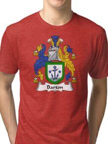 Barton Coat of Arms / Barton Family Crest Tri-blend T-Shirt